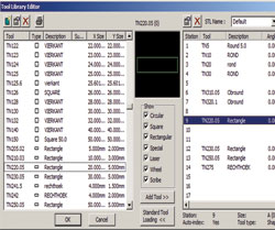 Standard tool loading files in radan 2012 R2